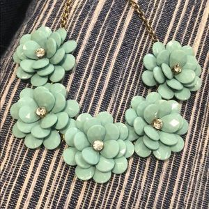 J Crew turquoise flower necklace